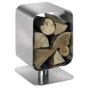 Blomus - Bebop Log Basket 65144 - stainless steel/ 33x44cm/stainless steel/H: 44,0 cm