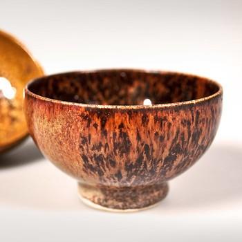 Orange Keramik Schale