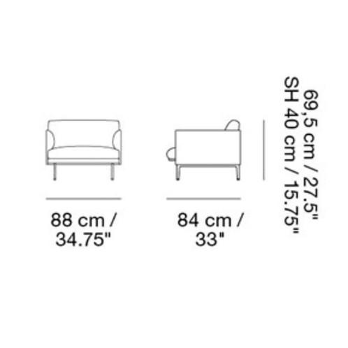 Muuto - Outline Sessel  - Strichzeichnung