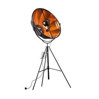 Pallucco - Fortuny Petite Bronze Rubelli LED Stehleuchte - schwarz/bronze/Stoff/3000K/3500lm/mit Dimmer