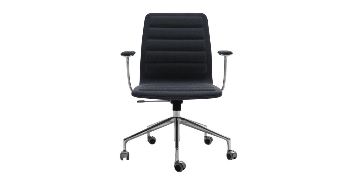 Cappellini Lotus Low Office Chair With Wheels Ambientedirect