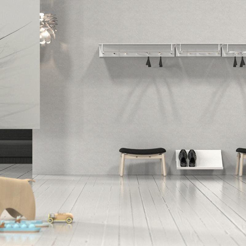 frost unu vestiaire mural avec 6 pat res barre ambientedirect. Black Bedroom Furniture Sets. Home Design Ideas