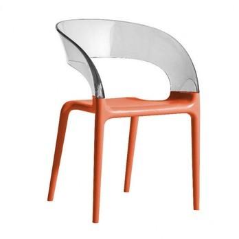 Driade - Ring Chair Armlehnstuhl - transparent/terracotta rot