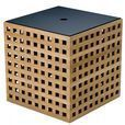 Skagerak - Hide Storage Box - teak/38x38x38,5cm/with lid