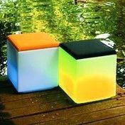 lux-us - Lux-us Leuchtwürfel - weiß/halbtransparent/ohne Sitzkissen