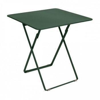 Fermob - Plein Air Tisch Quadratisch - zederngrün/lackiert/LxBxH 71x71x74cm