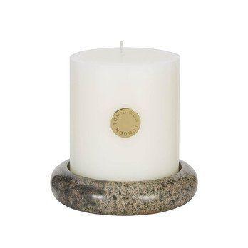 Tom Dixon - Materialism Stone Pillar Candle Kerze - grün/LxBxH 13x13x13cm