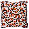 HAY - Kissen Printed Cushion - memory/mit Federfüllung/50x50cm
