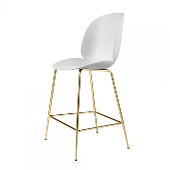 Gubi - Beetle Counter Chair Gestell Messing 108cm