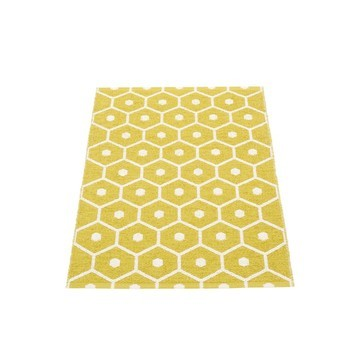 pappelina - Honey Teppich 70x100cm - senfgelb/vanille