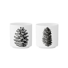Bloomingville - Votive - Set de 2 gobelets en porcelaine
