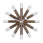 Vitra - Wheel Clock Nelson Wanduhr - nussbaum/aluminium/Ø45.5cm