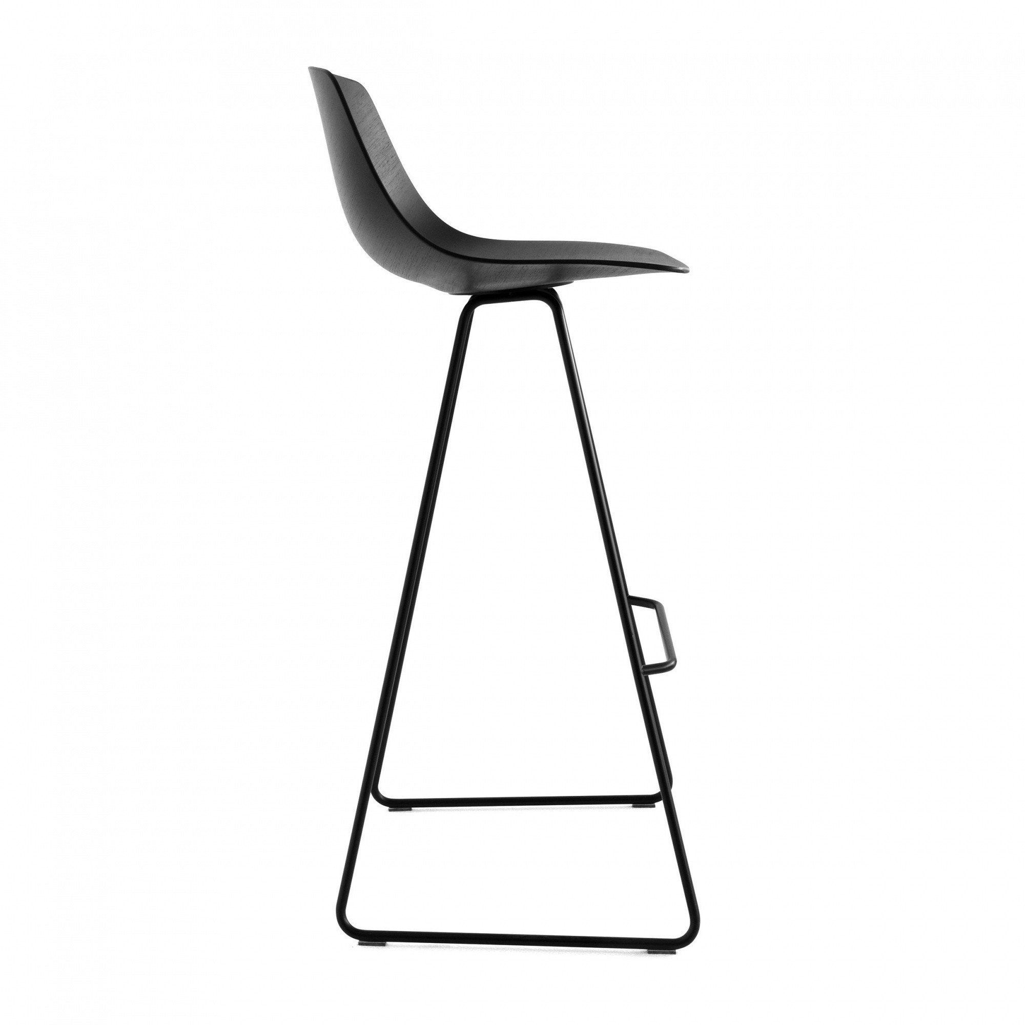 La Palma Miunn Bar Stool Skid Legs Black Ambientedirect