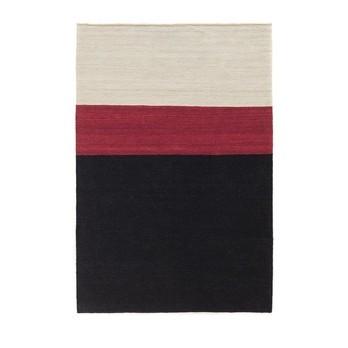 Nanimarquina - Mélange Colour 2 Kilim / Wollteppich - schwarz-weiß- rot/140x200cm