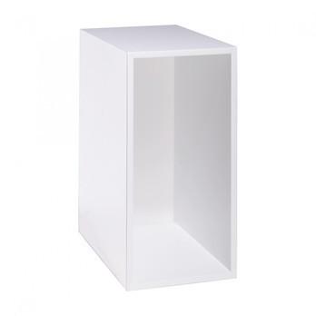 Muuto - Mini Stacked Einzelfach 1 - weiß/Rückwand weiß/Größe 1/33,2cm x 26cm x 16,6cm