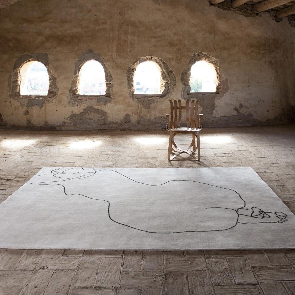chillida design art carpet nanimarquina. Black Bedroom Furniture Sets. Home Design Ideas