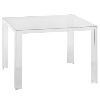 Kartell - Invisible Table Tisch - glasklar/transparent/LxBxH 100x100x72cm