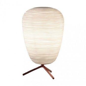 Foscarini - Rituals Tischleuchte - weiß//Glas satiniert/Größe 1, H 40cm/Ø 24cm/exkl. Leuchtmittel