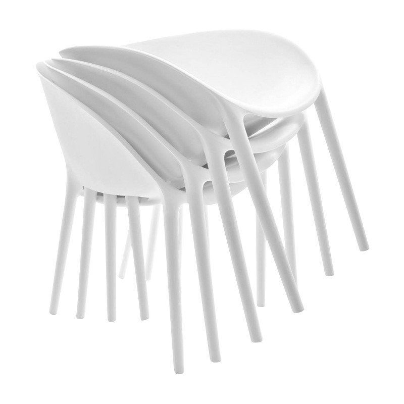 ... Driade   Soft Egg Stuhl Set   Weiß/Kunststoff/4 Stück ...