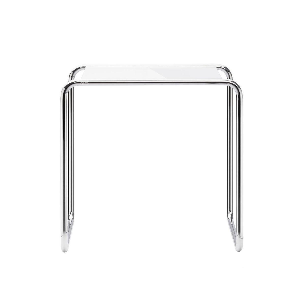 Beistelltisch glas chrom  Thonet B9 Beistelltisch Glas | Thonet | AmbienteDirect.com