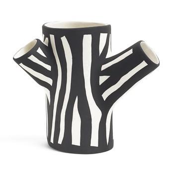 HAY - Tree Trunk Vase S - weiß/schwarz/H 15cm