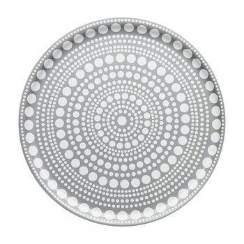 iittala - Kastehelmi Tablett - hellgrau/Ø 35cm