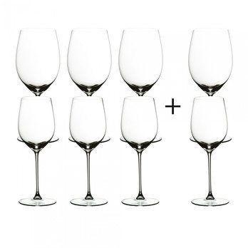 Riedel - Veritas Weinglas Geschenk Set 6+2 - transparent/H 23,5cm , 625ccm / H 22,5cm, 370ccm/2 Weingläser Gratis