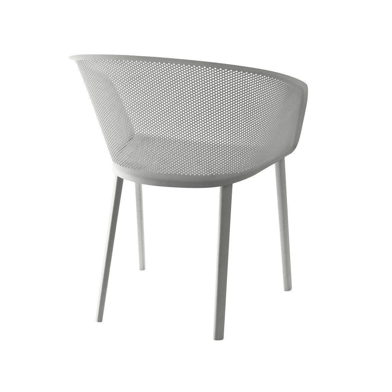 Stampa silla de jardin con reposabrazos kettal for Sillas jardin blancas