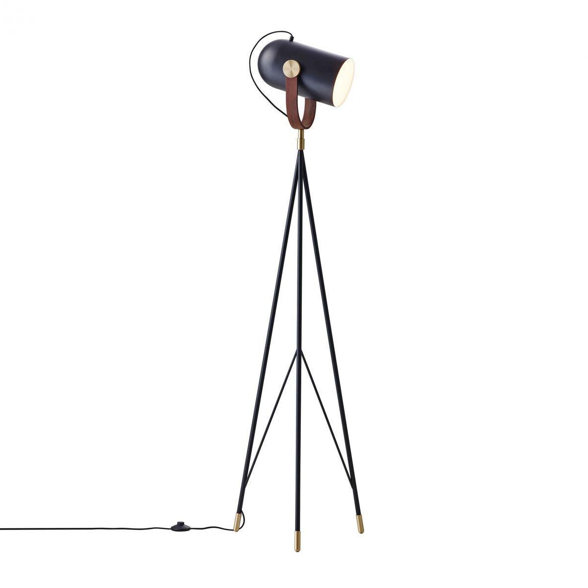 le klint carronade floor lamp high  le klint  ambientedirectcom - le klint  le klint carronade floor lamp high  blackbrasswalnut