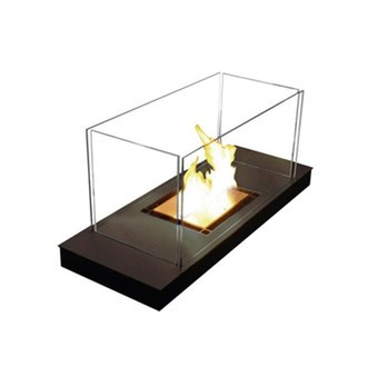 Radius - Uni Flame Open Fire - black / 99x40x46cm/powdered steel