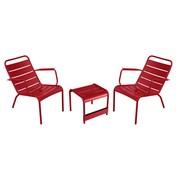 Fermob - Luxembourg 2 Sessel + 1 Beistelltisch