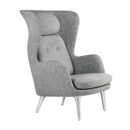 Fritz Hansen - Ro™ JH1 Wingback Fabric Chair Aluminum Feet