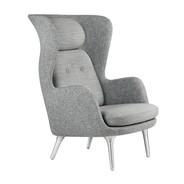 Fritz Hansen - Ro™ Wingback Chair Frame Aluminum