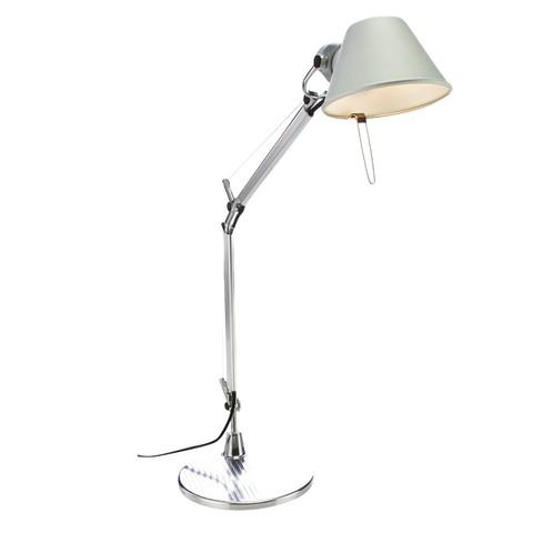 Artemide - Tolomeo Micro LED Schreibtischleuchte - aluminium/poliert/eloxiert/mit Tischfuß/BxH 45x73cm/3000K/350lm