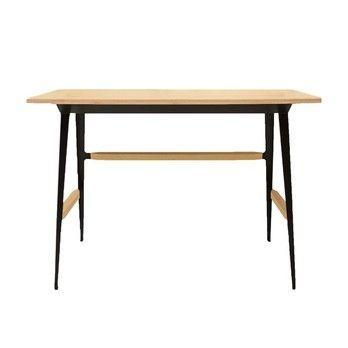 Driade - Moleskine Schreibtisch - eiche/Gestell aus Stahl/matt schwarz lackiert