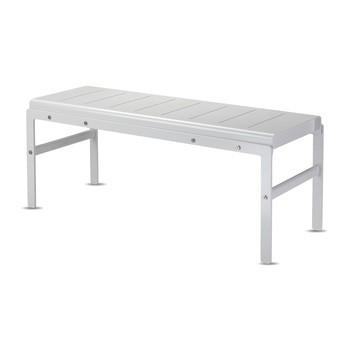 Skagerak - Reform Sitzbank/Beistelltisch - silberweiß/LxBxH 110x41x45.5cm