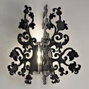 Terzani - Anastacha Wall Lamp - black/plastics/frame nickel-plated
