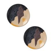 ferm LIVING - Aya keramische plaat set van 2