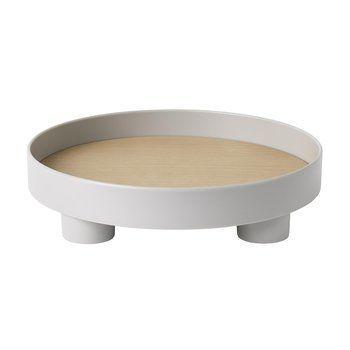 Muuto - Platform Tray Tablett - grau/H 7,2m, Ø 30cm
