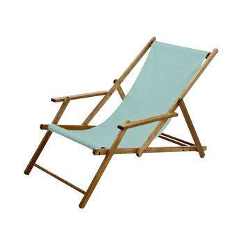 Jan Kurtz - Deckchair Liegestuhl - meerblau/Textilene