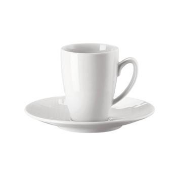 Rosenthal - Rosenthal Mesh Espressotasse mit Untertasse - weiß/glänzend/mikrowellengeeignet/Espressotasse: 0,08l/ Untertasse: Ø12cm