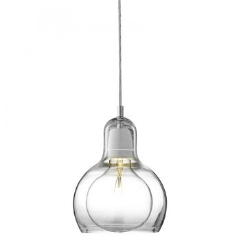 &tradition - Mega Bulb Pendelleuchte - transparent/Kabel transparent/ohne Leuchtmittel