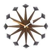 Vitra - Polygon Clock Nelson Wanduhr - nussbaum/Ø43cm