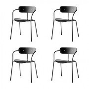 &tradition - Set de 4 chaises avec accoudoirs Pavilion AV2