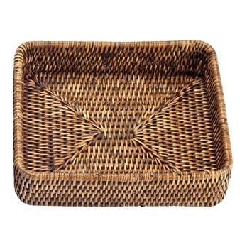 Decor Walther - Basket TAB 1 Rattan-Tablett - rattan dunkel/21.5x18x5cm