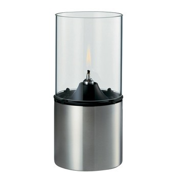 Stelton - Stelton Öllampe - edelstahl/transparent/Schirm transparent