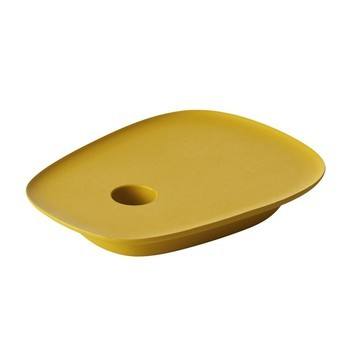 Muuto - Float Kerzenhalter - gelb/L: 15cm