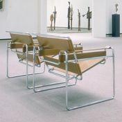 Knoll International - Wassily Marcel Breuer Sessel | Ausstellungsstück - Leder hellbraun/Rindskernleder hellbraun/Einzelstück - nur einmal verfügbar!