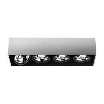 Flos - Compass Box 4 Deckenleuchte - aluminium/eloxiert/Trafo integriert