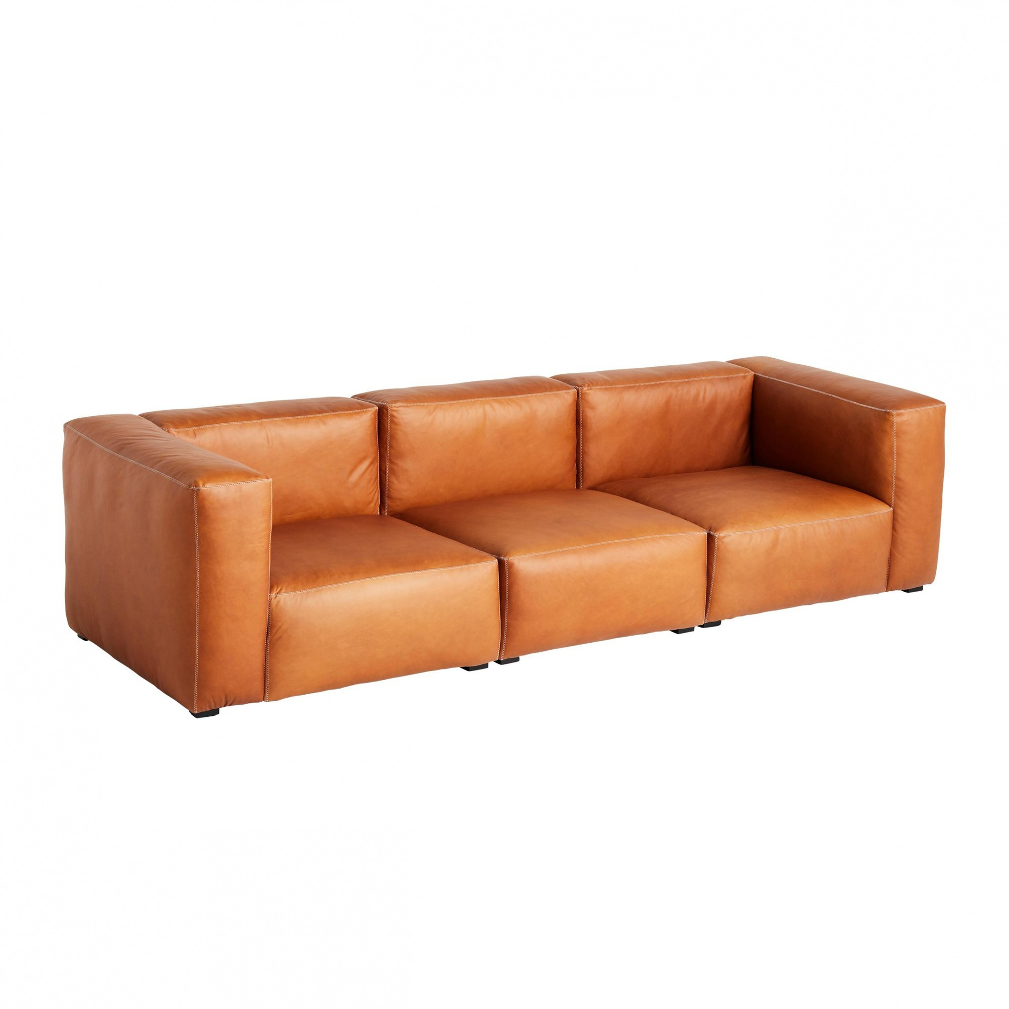 HAY Mags Soft 3 Seater Leather Sofa 268.5x95.5cm | AmbienteDirect